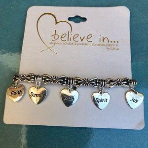 BELIEVE IN stretch bracelet NWT
